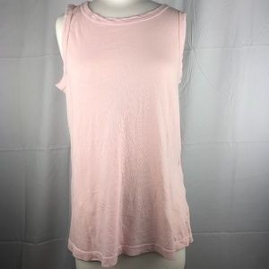 NWT Current/Elliott Muscle Tank in Soft Pink